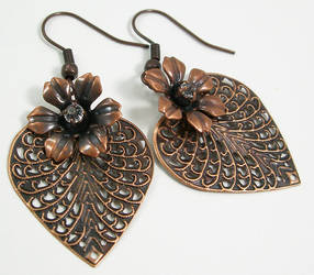 Copper Bloom Earrings by SpottedOctopus
