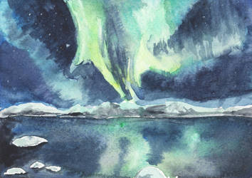 Auroras over Arctic Circle by HaleyGottardo