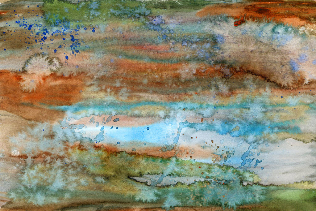 Copper Patina Abstract by HaleyGottardo