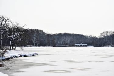 Herrick Lake After November Snowstorm 31 by HaleyGottardo