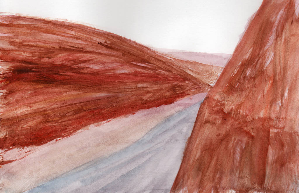 Canyon River in Watercolor by HaleyGottardo