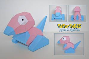Pokemon Papercraft - Porygon by PaperBuff