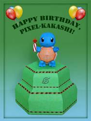Happy Birthday, Pixel-Kakashi by PaperBuff