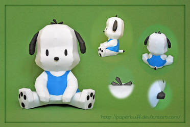 Pochacco Papercraft by PMF by PaperBuff