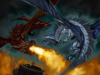 Red vs Silver W.I.P by ravens-raziel