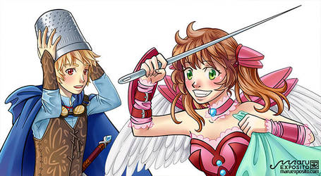 Character Design for cosplay shop hakamaCOSPLAY by MaruExposito
