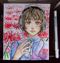 Japanese flores - Manjushage lady by MaruExposito