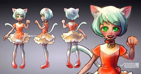 Cat Girl turnaround (Character design) by MaruExposito