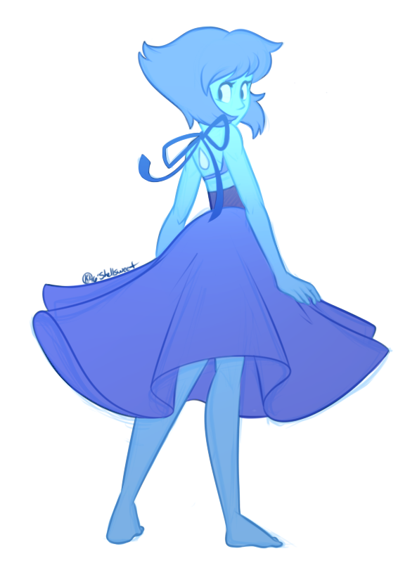 """Lapis Lazuli, you fled into the bottom of the sea~, Lapis Lazuli, you were so mad, but then you came around to me~!"""