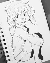 Inktober Day 20: Renee by Shellsweet