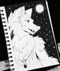 Inktober Day 28: Werewolf  by Shellsweet