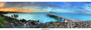 Mauritius Jetty Sunset by Furiousxr