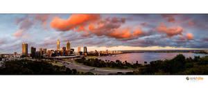 Perth Skyline November 09 by Furiousxr