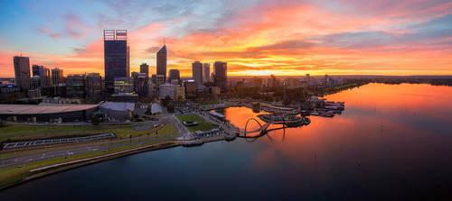 Perth Sunrise by Furiousxr