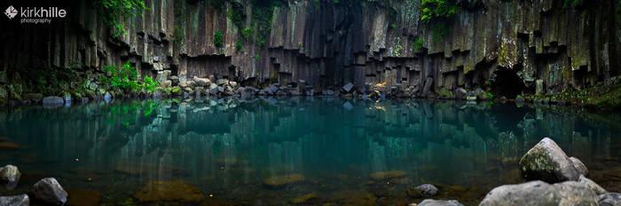 Cheonjeyeon Waterfall - South Korea - Jeju Island by Furiousxr