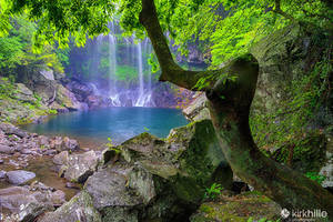 Jeju Island South - Cheonjeyeon Waterfall by Furiousxr