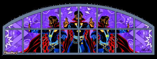 Doctor Strange - Movie Theater Window Mural DESIGN by FilmmakerJ