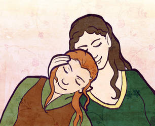 Arwen and Tauriel by sqbr