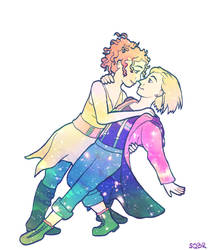 Doctor Who and River Dance by sqbr
