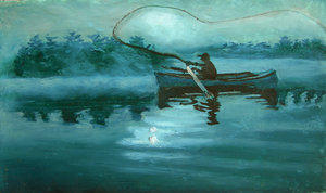 Fly Fisherman by TArthurSmith by Traditional-Art