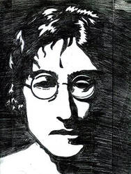 John Lenon by violentjelly by Traditional-Art