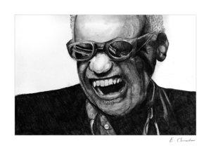 Ray Charles by thechevver2 by Traditional-Art
