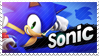 Sonic The Hedgehog - Splash Card Stamp by SnowTheWinterKitsune