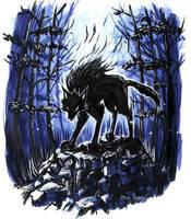 Inktober Day 2: Werewolf by Noriko-Sugawara