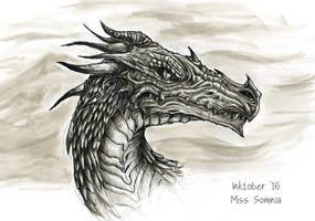 Inktober Day 6: Dragon by Noriko-Sugawara
