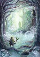Lost Woods - Legend of Zelda Breath of the Wild by Noriko-Sugawara