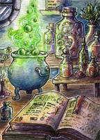 Potion Brewing by Noriko-Sugawara
