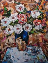 flowers in the vase by KauruKaya