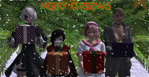 Merry Christmas from the Ladies by Darksunset12