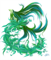 Burning Green by celede