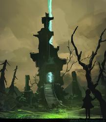 Necromancer Tower by Zbrush-Hero