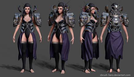 Dark Sorceress Wip by Zbrush-Hero