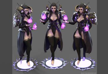 Dark Sorceress render by Zbrush-Hero
