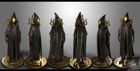 Dark Wizard by Zbrush-Hero