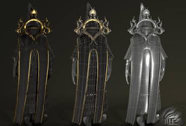 Dark Wizard wire-frame 2 by Zbrush-Hero