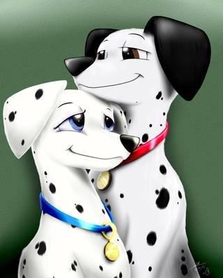 Pongo and Perdita by BluDraconoid