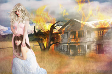 Homestead in Flames by cameo-desgin