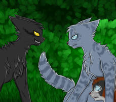 Breezepelt, Jayfeather and Poppyfrost by Lunatic-Mo-on