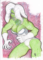 She-Hulk becomes angry by peter-schaaff