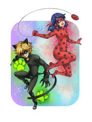Ladybug and Chat Noir 1 by lince