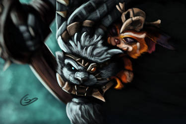 Rengar and Gnar by T-S-L