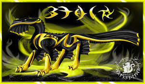 The Golden Beau Dragon by CrystalJoy-Creations