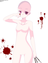 Girl with knifes - Base 16 by BasesMayura