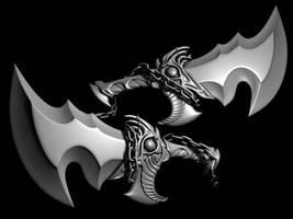god of war kratos blades by rubenvoorhees1