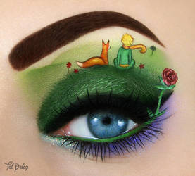 The little prince and the fox by scarlet-moon1