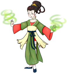 1800 Chinese Magical Girl by VintageOddity